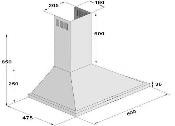 Line Art Extractor : Stainless steel cooker hoods open plan extractor fan