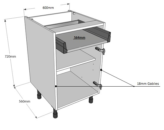 Cabinet carcass thickness cabinets matttroy for Kitchen base unit carcass