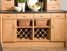 In -Situ Wicker Basket For Internal Or External Kitchen Cupboards