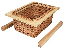 Wicker Basket For Internal Or External Kitchen Cupboards