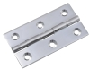 Polished chrome solid brass butt hinges
