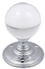Fulton & Bray clear crystal mortice knob