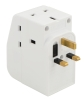 3 way adaptor with 2 USB ports