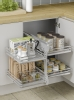 Solid base kitchen corner unit optimizer