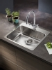 Pyramis Zeria 600mm unit flushmount sink with tap hole