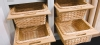 Kitchen wicker basket with front handle