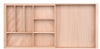 Expandable wooden cutlery drawer insert