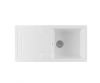 Sanindusa Reno single bowl white ceramic sinks modern style
