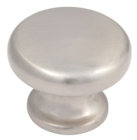 Brushed nickel flat top knob - 33mm