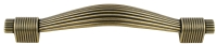Bronze reeded kitchen door handle - 128 ...