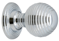 Polished chrome Queen Anne beehive knob ...