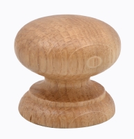 Wooden  oak  knob  lacquered  45mm