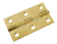 Electro brass butt hinge - 50mm / 2in B ...