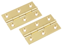 Solid Brass Cabinet Butt Hinges 2in Pol ...