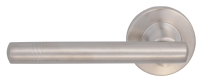 Satin chrome latch handle