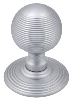 Satin chrome Queen Anne mortice knob