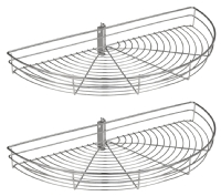 1/2 Wire Carousel 720mm (2 baskets in s ...