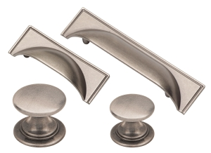 Windsor pewter cup handles and matching knobs collection