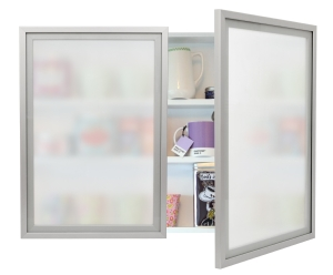 Modern style frosted glass cabinet doors