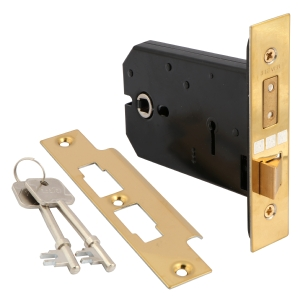 Mortice lock for interior door knobs
