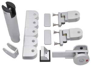 Toilet cubicle fittings kit