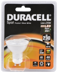 Duracell LED spotlight GU10
