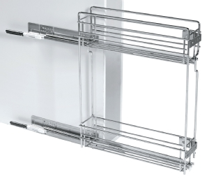 Soft close pull out spice rack for 150mm side storage
