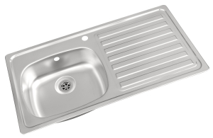 Carron Phoenix single bowl stainless steel kitchen sink