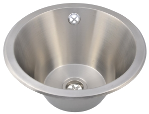 Round stainless steel sink