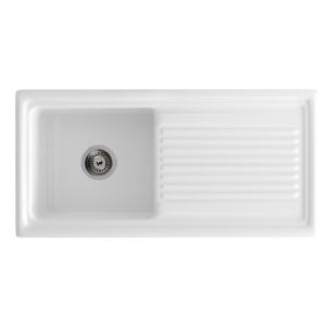 Sienna ceramic white kitchen sink