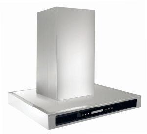 Modern square style cooker hood with LED lights