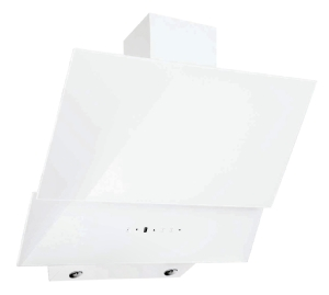 White Designer glass hoods with remote control