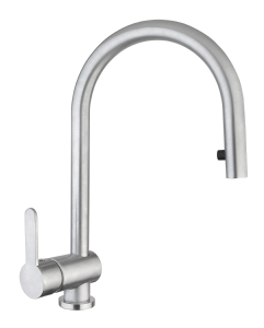 Amalfi side lever tap with pull out hose