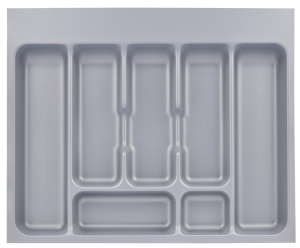 Metallic cutlery drawer insert
