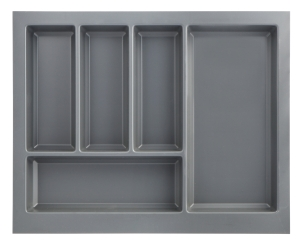 Anthracite cutlery insert for slimline drawers