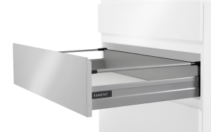 Samet gallery rail and back board holder for drawer