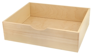 Complete wooden internal drawer