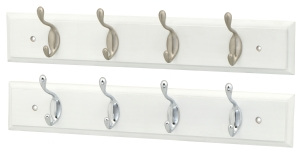 White profile board with 4 hooks