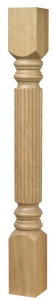 Wooden newel post reeded type