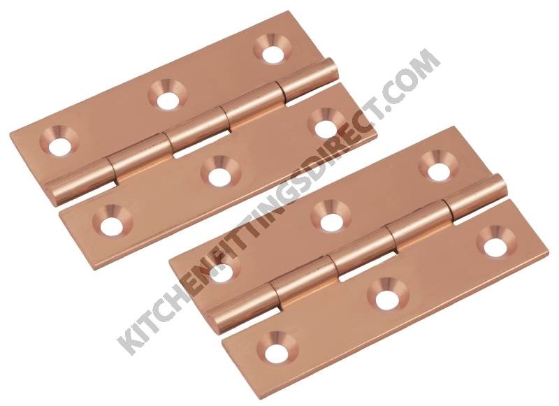 Polished Copper Solid Br Hinges