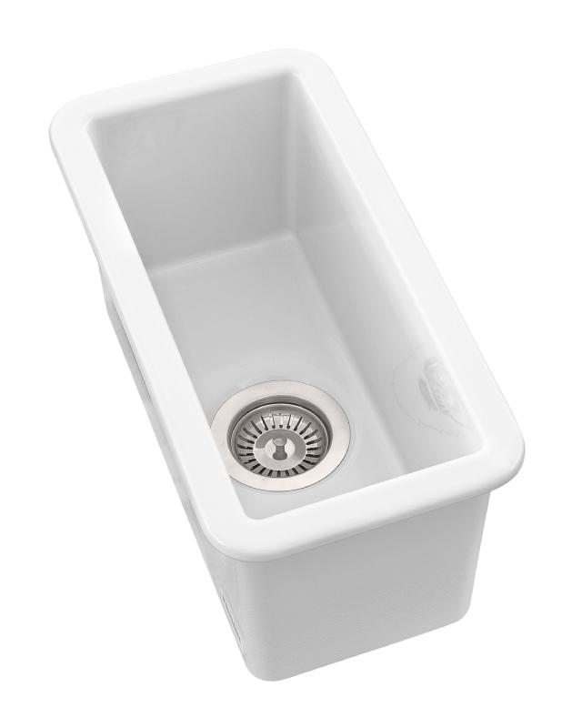 Sanindusa White Ceramic Undermount Small 1 2 Bowl Sink Small Undermount Ceramic Sink Dublin Ireland