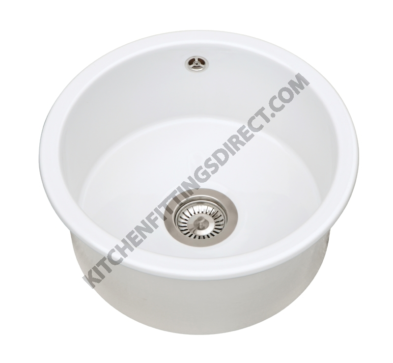Sanindusa round bowl ceramic sink
