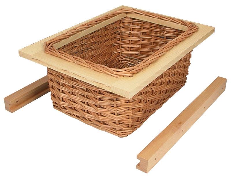 Wicker Basket For Internal Or External Kitchen Cupboards
