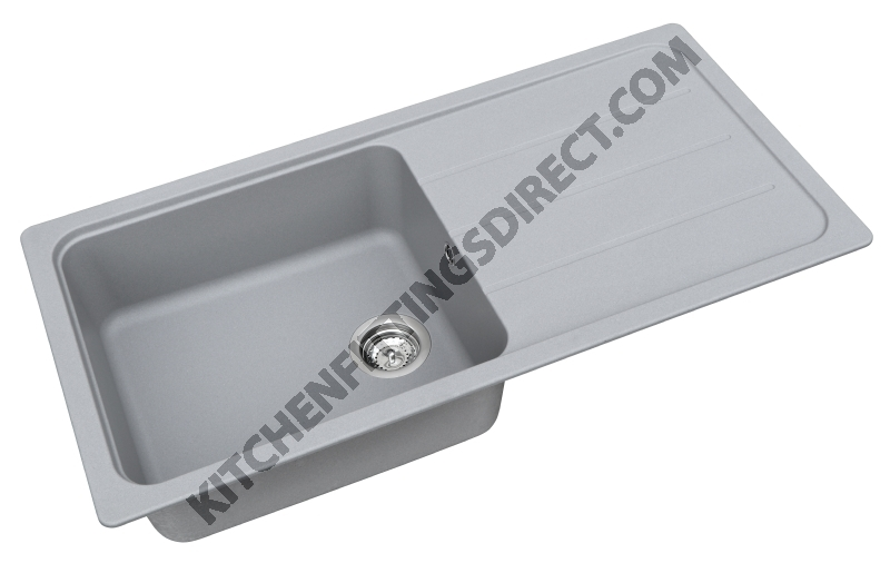 grey composite single bowl sink