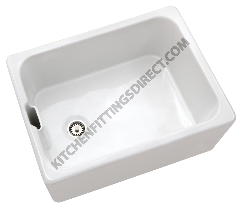 white ceramic Belfast sink