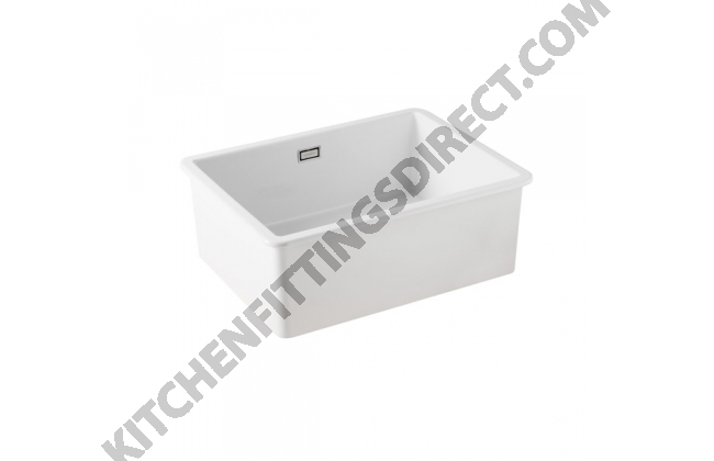 white ceramic large undermount sink