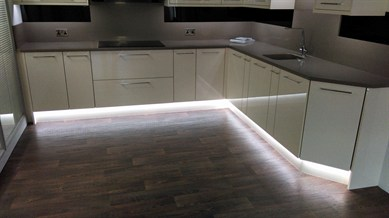 Kitchen plinth led strip lights