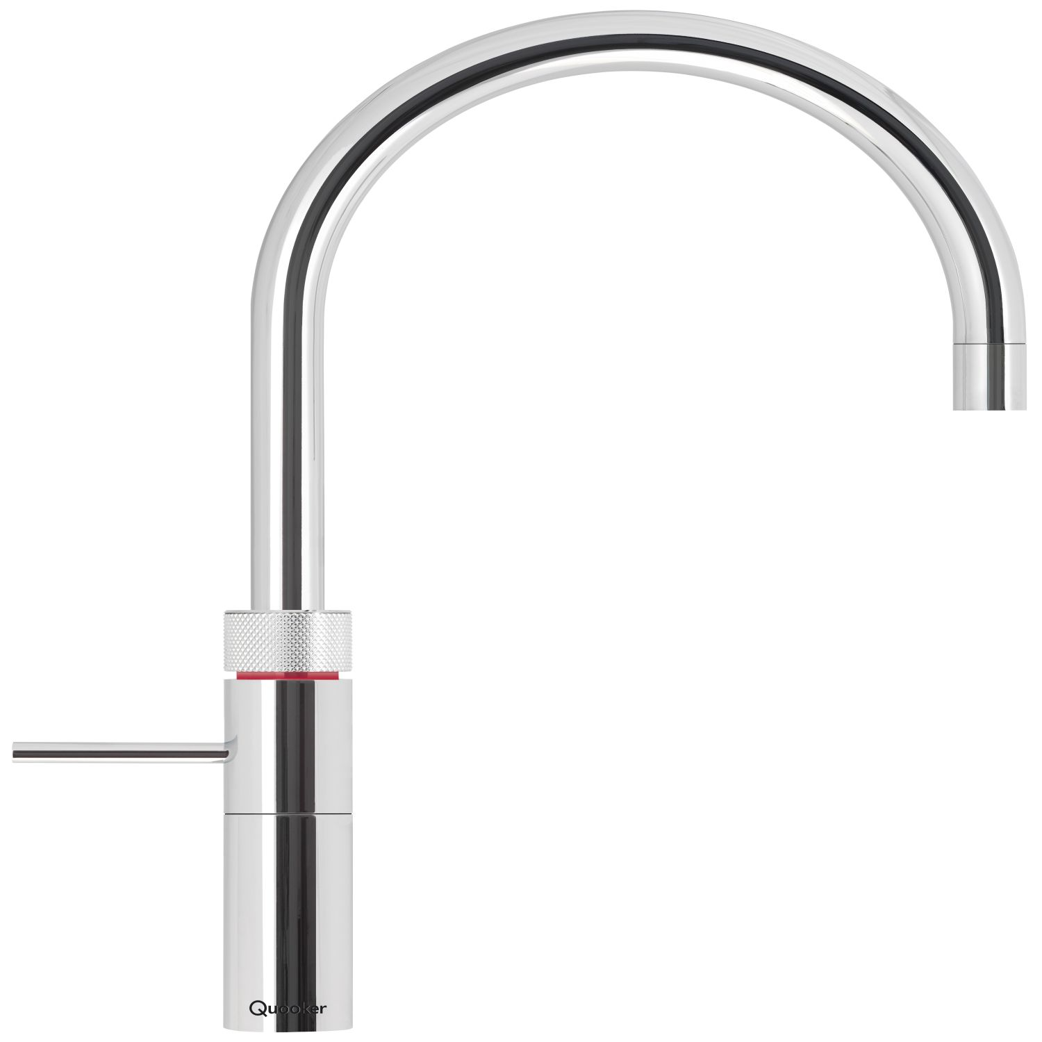 Quooker Round Brushed Chrome Boiling Water Tap