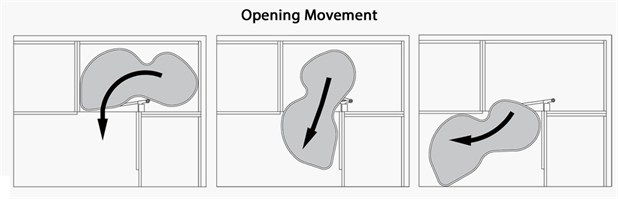 Left Hand Kidney Corner Solution Opening