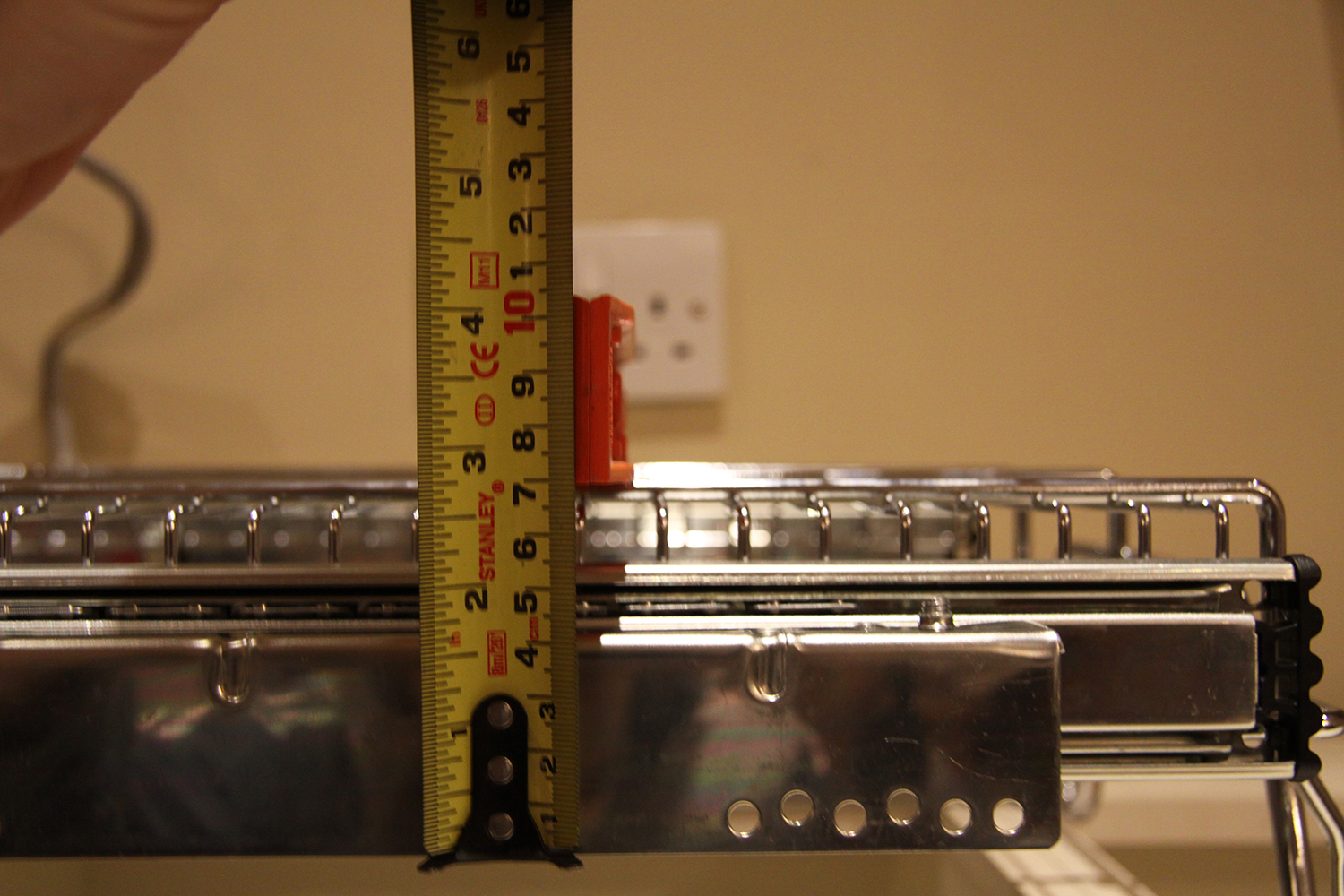 2. Measuring From The Bottom Of The Soft Close Chrome Basket To The Top Of The Runner